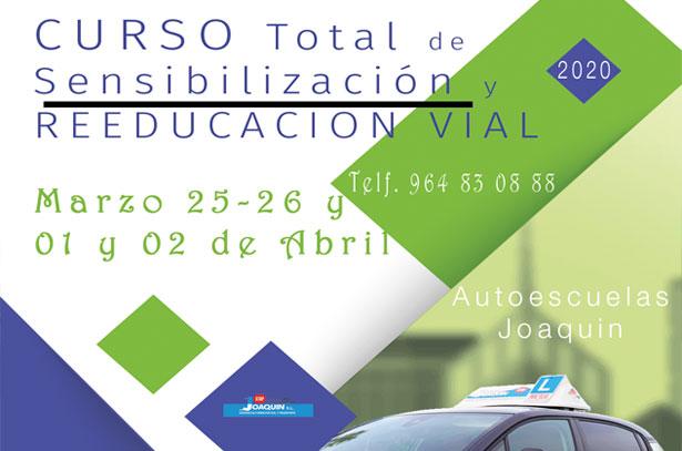 Curso Total de Sensibilización y Reeducación vial MARZO 2020
